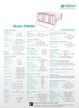 Protection relay test PW666i Datasheet
