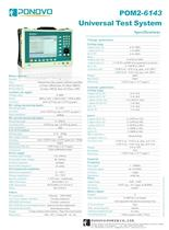 Protection Relay Test Set POM-6143 Datasheet