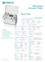 Protection Relay Test Set-Universal Tester T200A