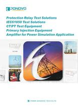 Protection relay test sets