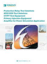 Protection relay test sets--China PONOVO CATALOG