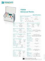 Relay test equipment T200A|0-120V/60VA