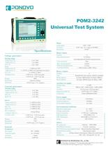 Relay test set POM2-3242 | Datasheet