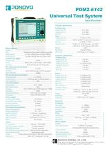 Relay test set POM2-6142 Datasheet