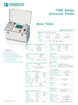 Single Phase Relay Tester T200A Brochure