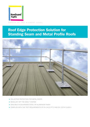 Roof Edge Protection for Metal Roofs
