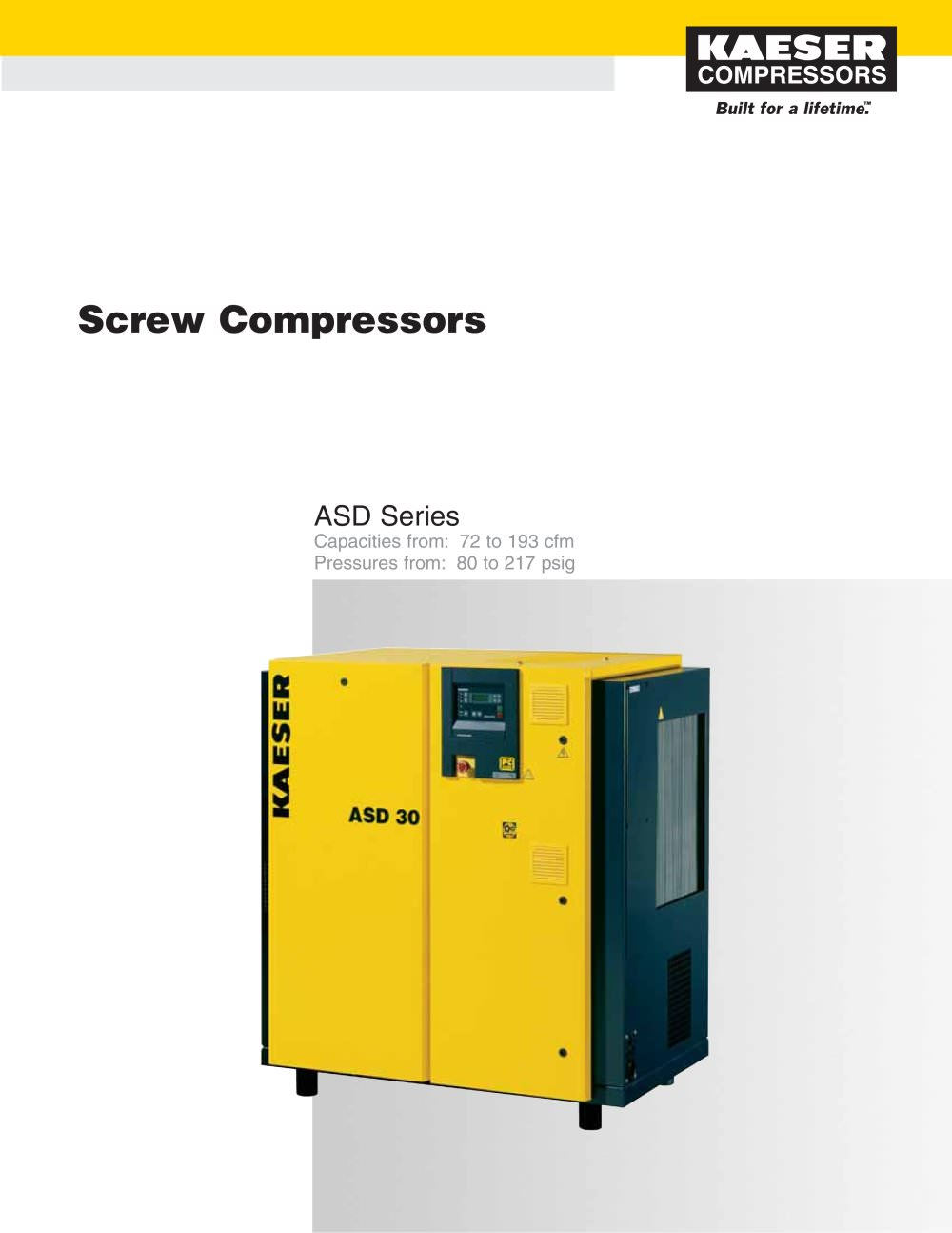 ASD Series Compressors - 1 / 6 Pages