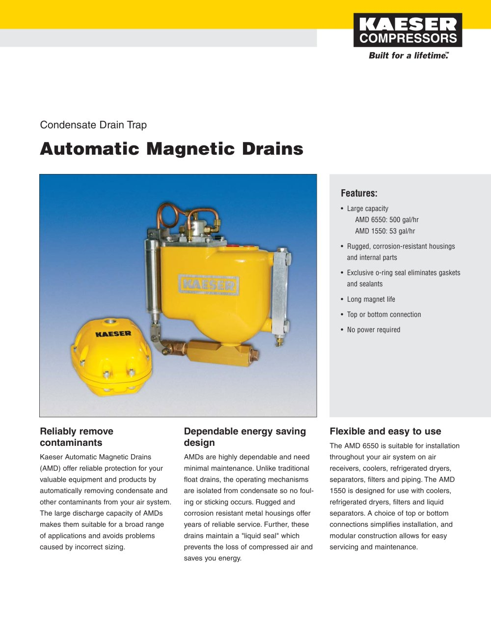 Automatic Magnetic Drain - 1 / 2 Pages