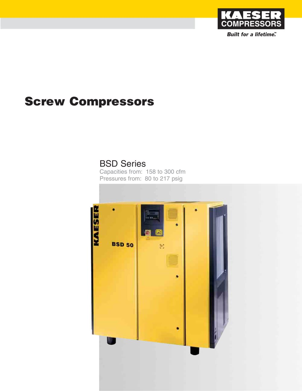 BSD Series Compressors - 1 / 6 Pages