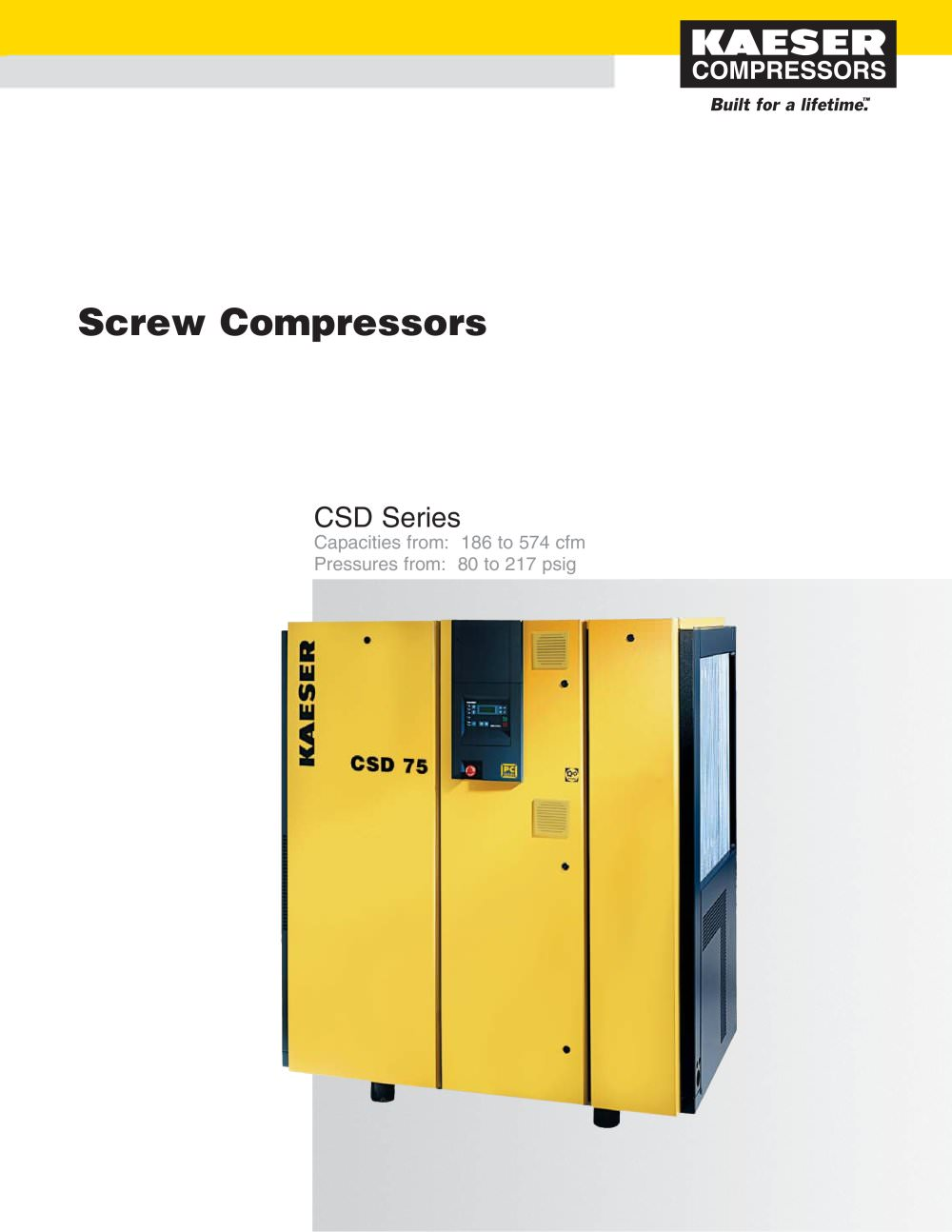 CSD Series Compressors - 1 / 6 Pages