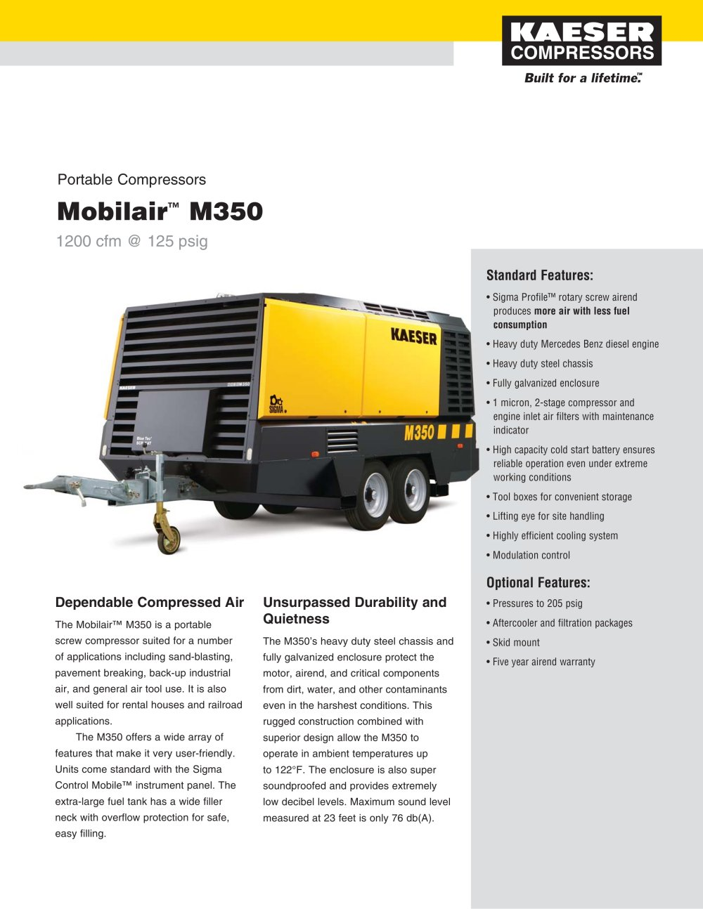 Mobilair ? M350 - 1 / 2 Pages