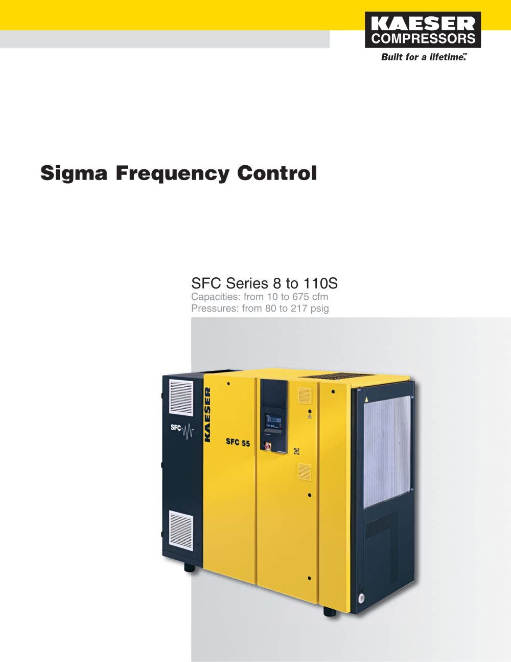 SFC Series Compressors 8 to 110S - 1 / 6 Pages