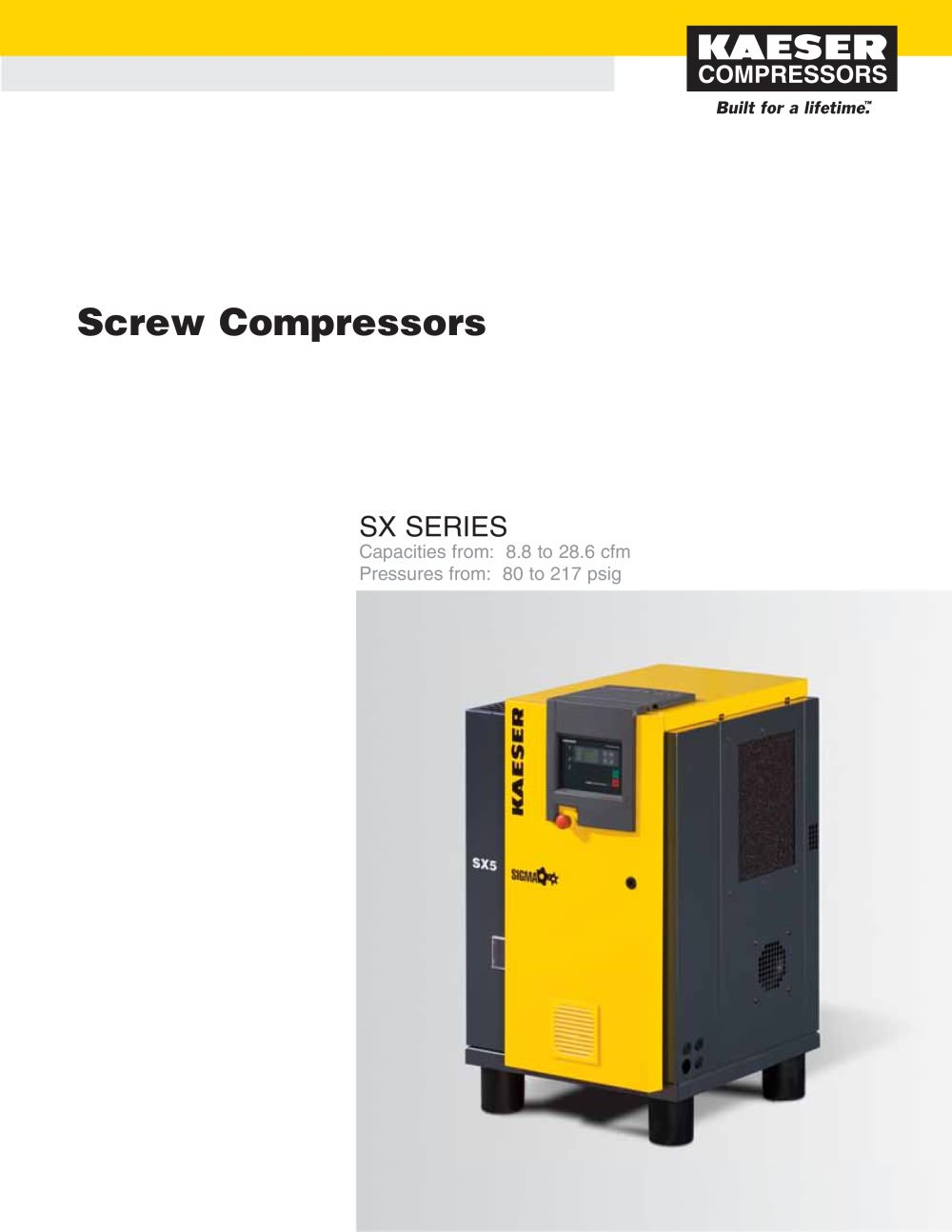 SX Series Compressors - 1 / 6 Pages