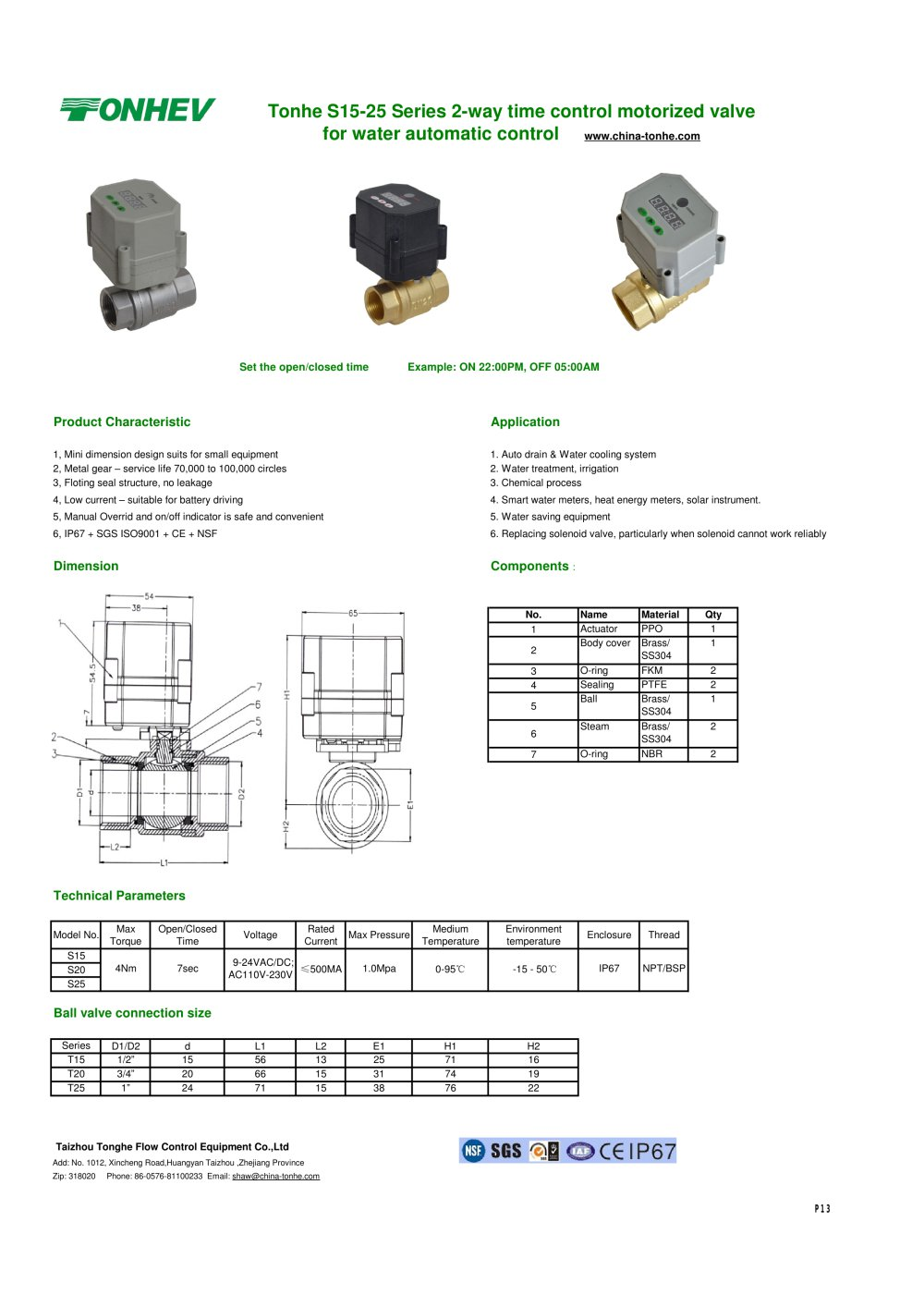 tonhe s15 25 series 2 way time control motorized valve for water rh pdf directindustry com ZX9 Wiring-Diagram Trans Wiring Diagrams Manual 1999 Mercedes Mercedes Mercedes E-Class