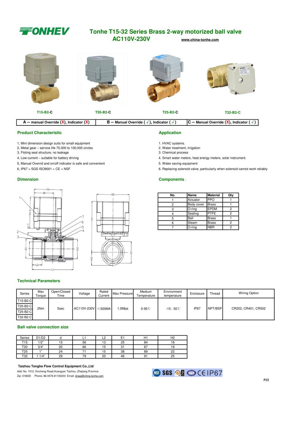 Tonhe T15 32 Series Brass 2 Way Motorized Ball Valve Ac110v 230v Seriesactuatorsolenoiddrive Controlcircuit Circuit Diagram 1 Pages
