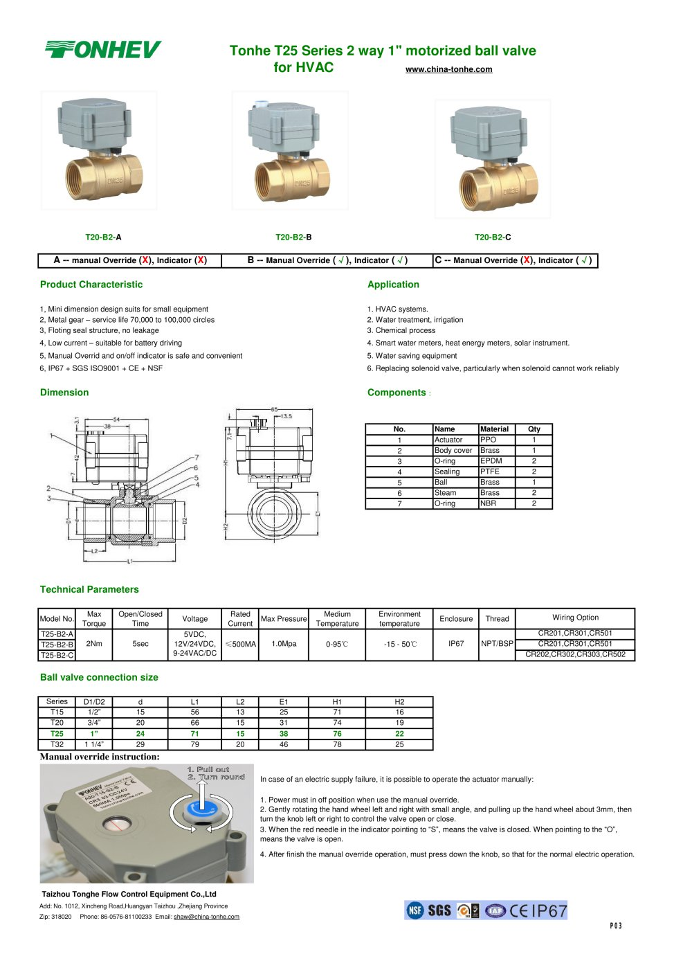 Tonhe T25 Series 2 Way 1 Motorized Ball Valve For Hvac Taizhou 3 Solenoid Wiring Diagram Pages