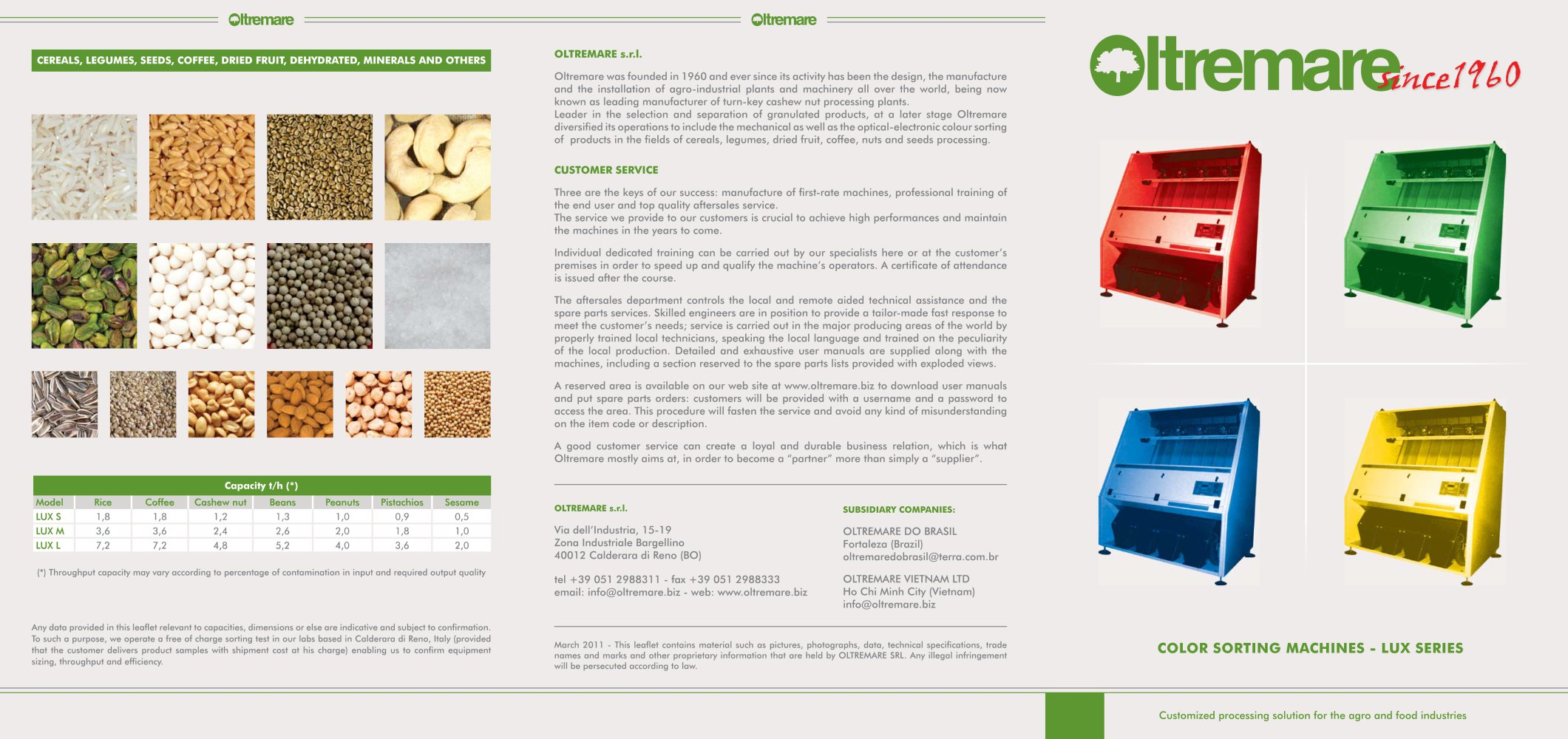Colors for professional website - Color Sorting Machines Lux Series 1 2 Pages