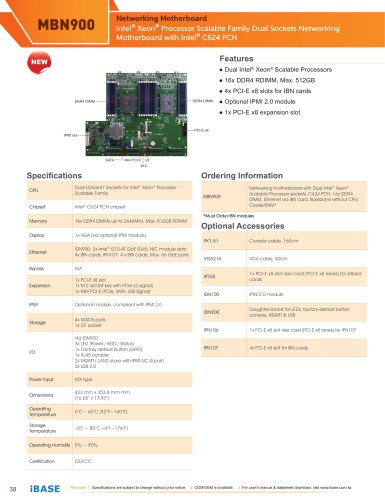 MBN900 - IBASE TECHNOLOGY - PDF Catalogs | Technical