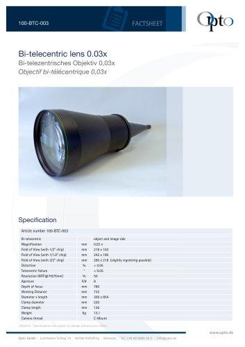 Bi-telecentric Lens 0,03x