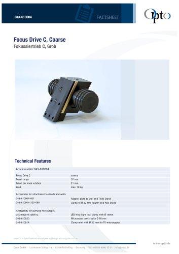 Focus Drive C, Coarse