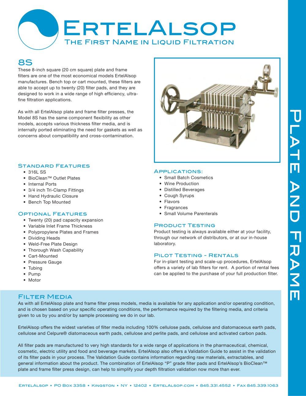 8S plate frame - ErtelAlsop - PDF Catalogue | Technical ...
