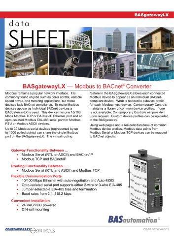BASgatewayLX - Contemporary Controls GmbH - PDF Catalogs | Technical