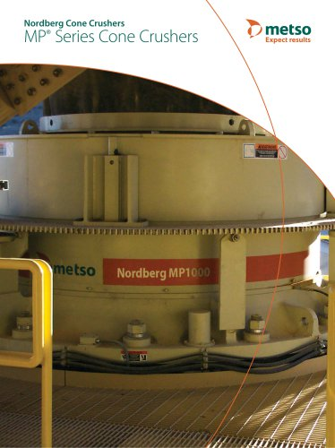 nordberg mp 1000 and mp 800 series cone crushers metso automation rh pdf directindustry com Gyratory Crusher Gyratory Crusher