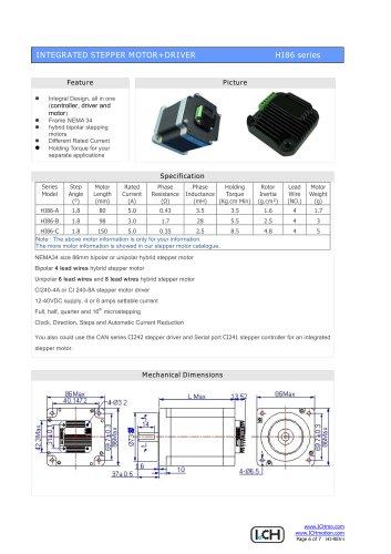 Integral Stepper Motor HI86