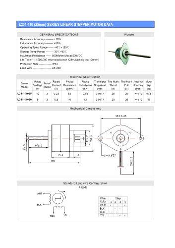 Linear Stepper L251-110(25mm)