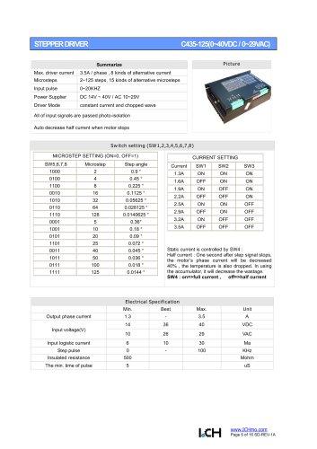Stepper Driver C435-125(0~40VDC / 0~29VAC)