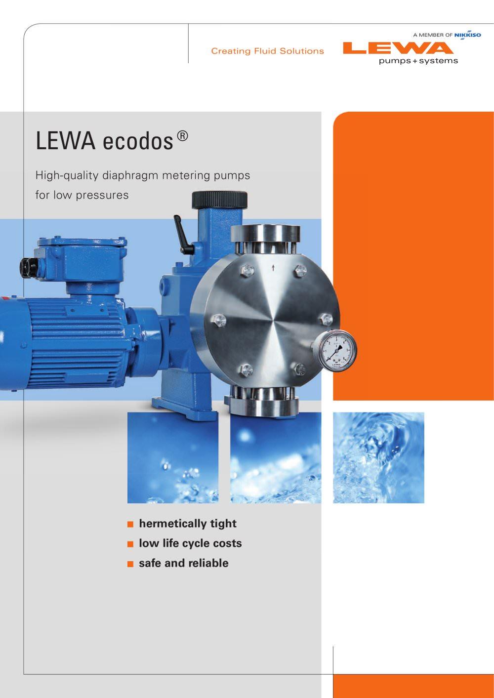 Lewa ecodos high quality diaphragm metering pumps for low lewa ecodos high quality diaphragm metering pumps for low pressures 1 12 pages ccuart Gallery