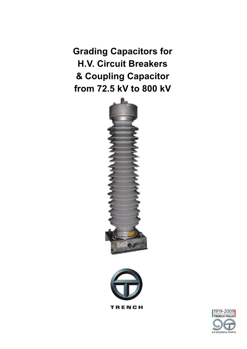 Grading Capacitors Trench Group Pdf Catalogue Technical How To Place A Coupling Capacitor In Circuit 1 4 Pages