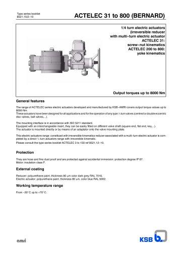 actelec 31 to 800 bernard ksb pdf catalogue technical rh pdf directindustry com Payne Heat Pump Wiring Diagram Water Pump Wiring Diagram