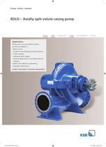 Axially split volute casing pump