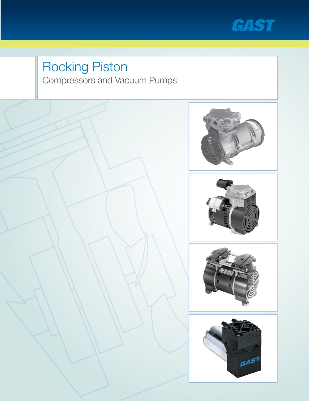 Rocking Piston Compressors And Vacuum Pumps Gast Pdf Catalogue 86r Compressor Wiring Diagram 1 28 Pages