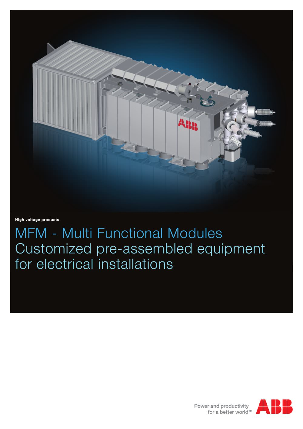 Mfm Multi Functional Modules Abb Ag Pdf Catalogue Technical Mediumvoltage Switchgear Switching Of Capacitors And Filter Circuits 1 16 Pages