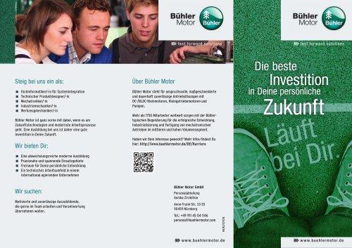 Bühler Motor Information for School Pupils