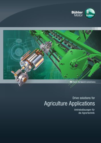 Drive solutions for Agriculture Applications