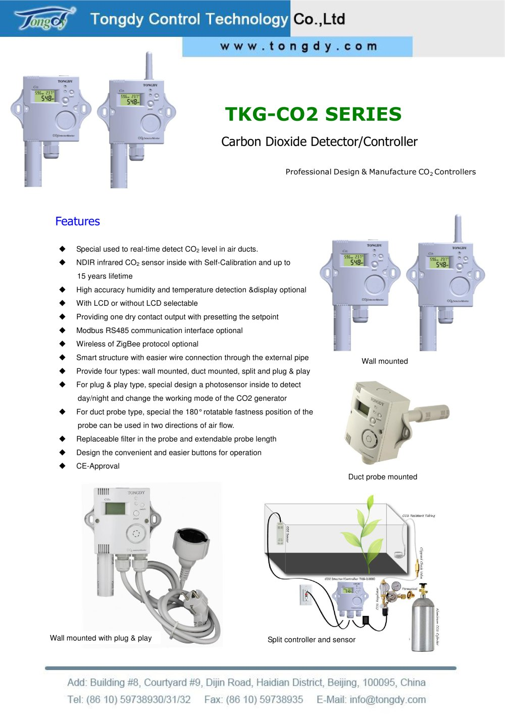 Co2 Controller For Greenhouse With Spdt Relay Tkg Series Dpdt Description Tongdy 1 5 Pages