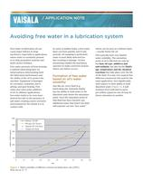 Avoiding free water in a lubrication system