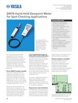 Hand-Held Dewpoint Meter for Spot-Checking Applications