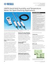 Hand-Held Humidity and Temperature Meter for Spot-Checking Applications