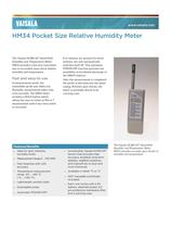 Vaisala HUMICAP® Hand-Held Humidity and Temperature Meter HM34