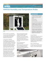 Vaisala HUMICAP® Humidity and Temperature Probe HMP155