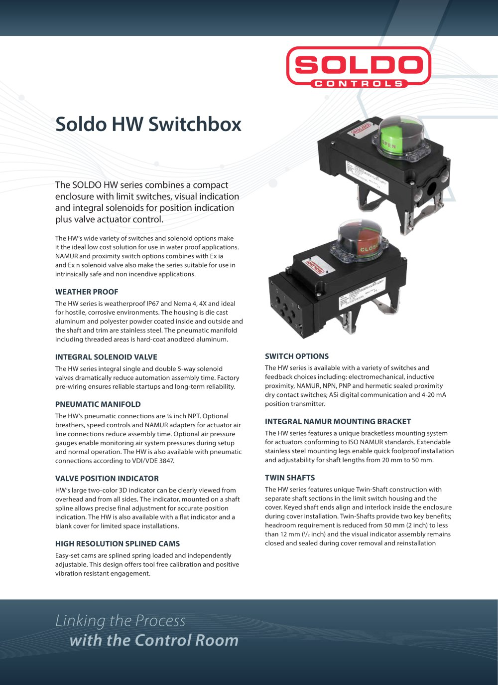 Soldo Hw Series Rotork Instruments Fairchild Industrial Products Solenoid Water Valve Wiring Diagram Get Free Image About 1 6 Pages