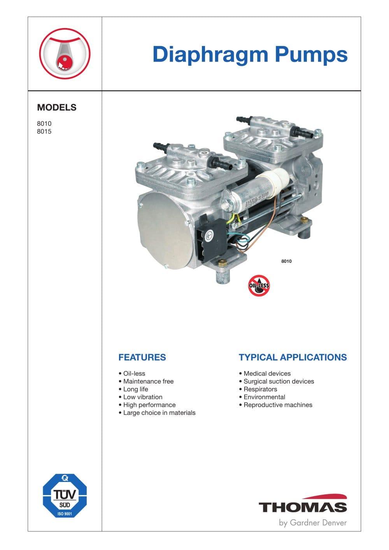 Diaphragm pumps gardner denver thomas pdf catalogue technical diaphragm pumps 1 6 pages ccuart Choice Image