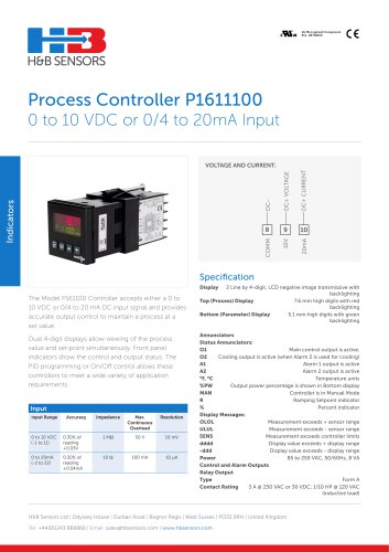 Process Controllers P1611100