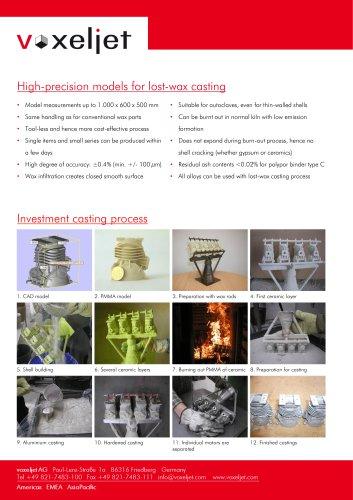 Investment casting - voxeljet - PDF Catalogs | Technical