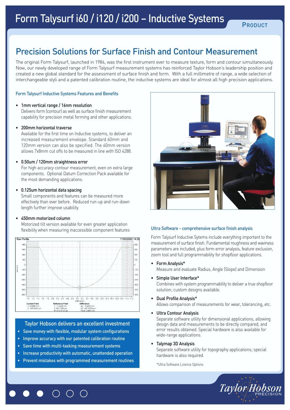 Form Talysurf i60 / i120 / i200 – Inductive Systems - TAYLOR ...
