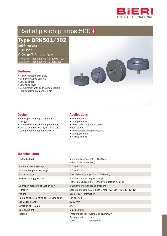 BRK series - Bieri Hydraulik - PDF Catalogs | Technical ...